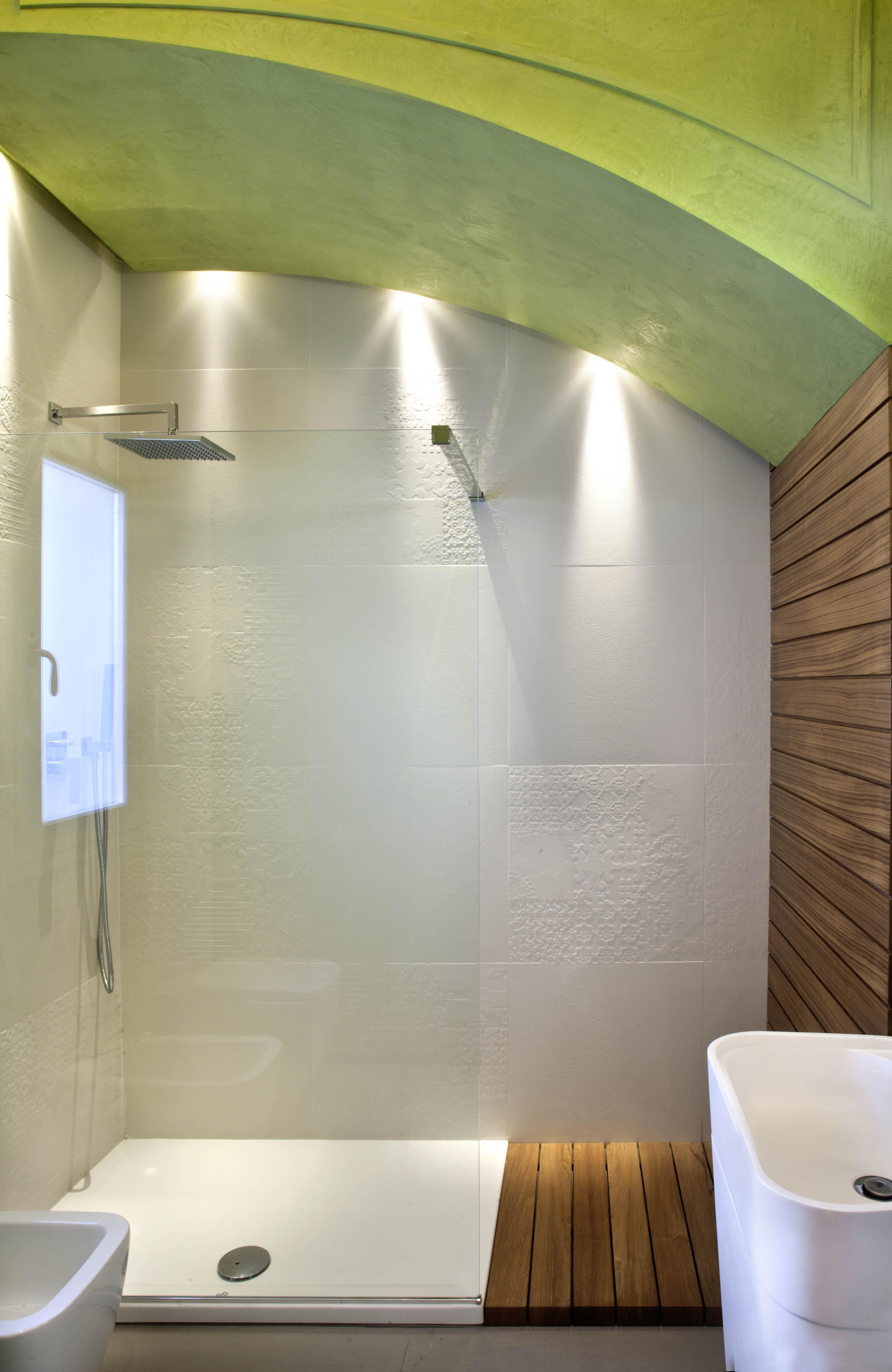progetto classico-contemporaneo - la doccia
