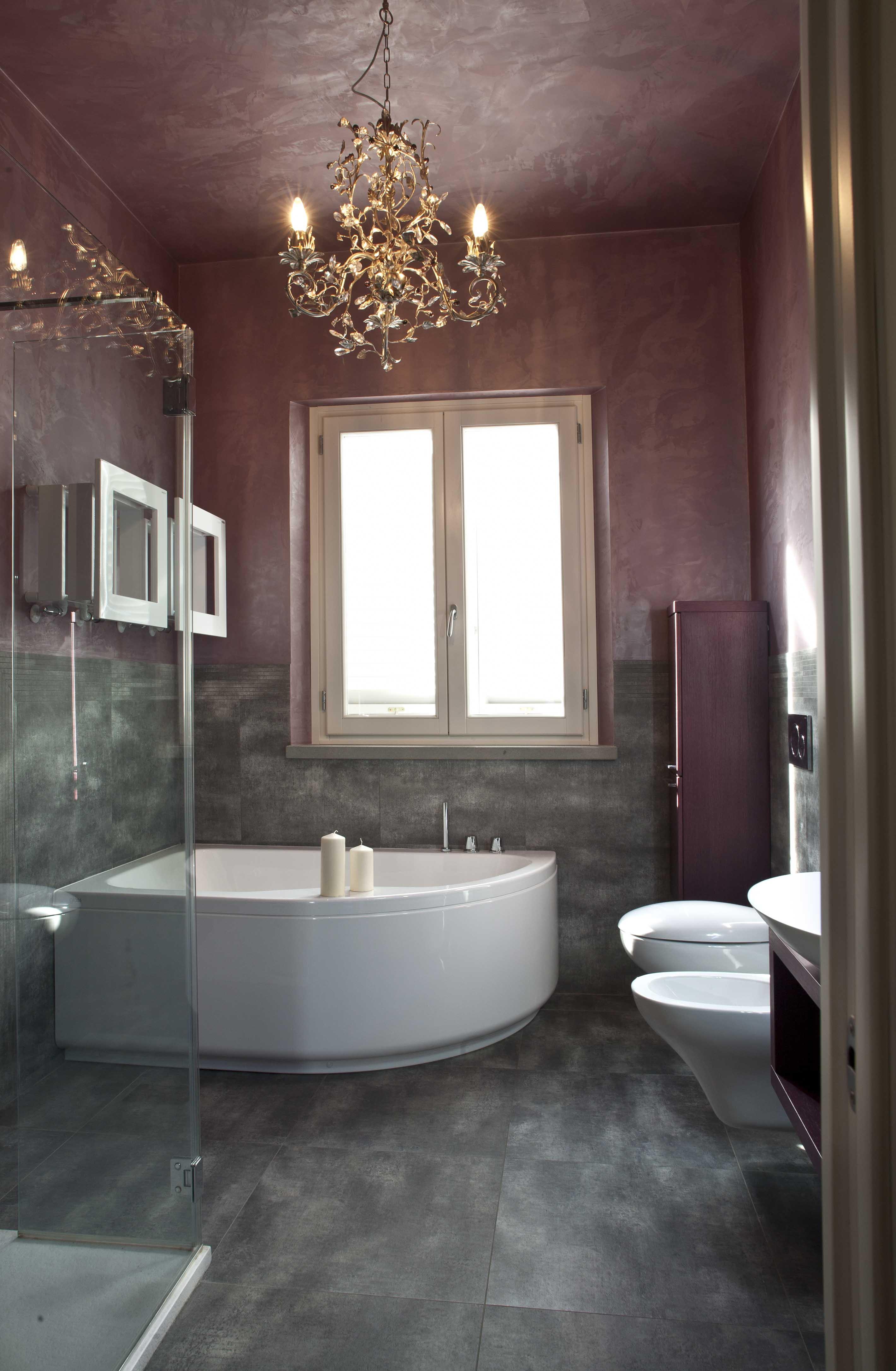 progetto classico-contemporaneo - il bagno padronale