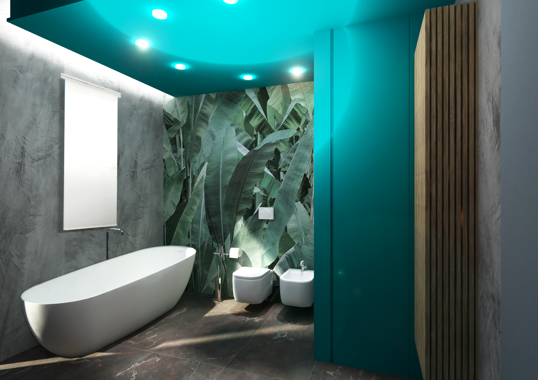 jungle style per un bagno