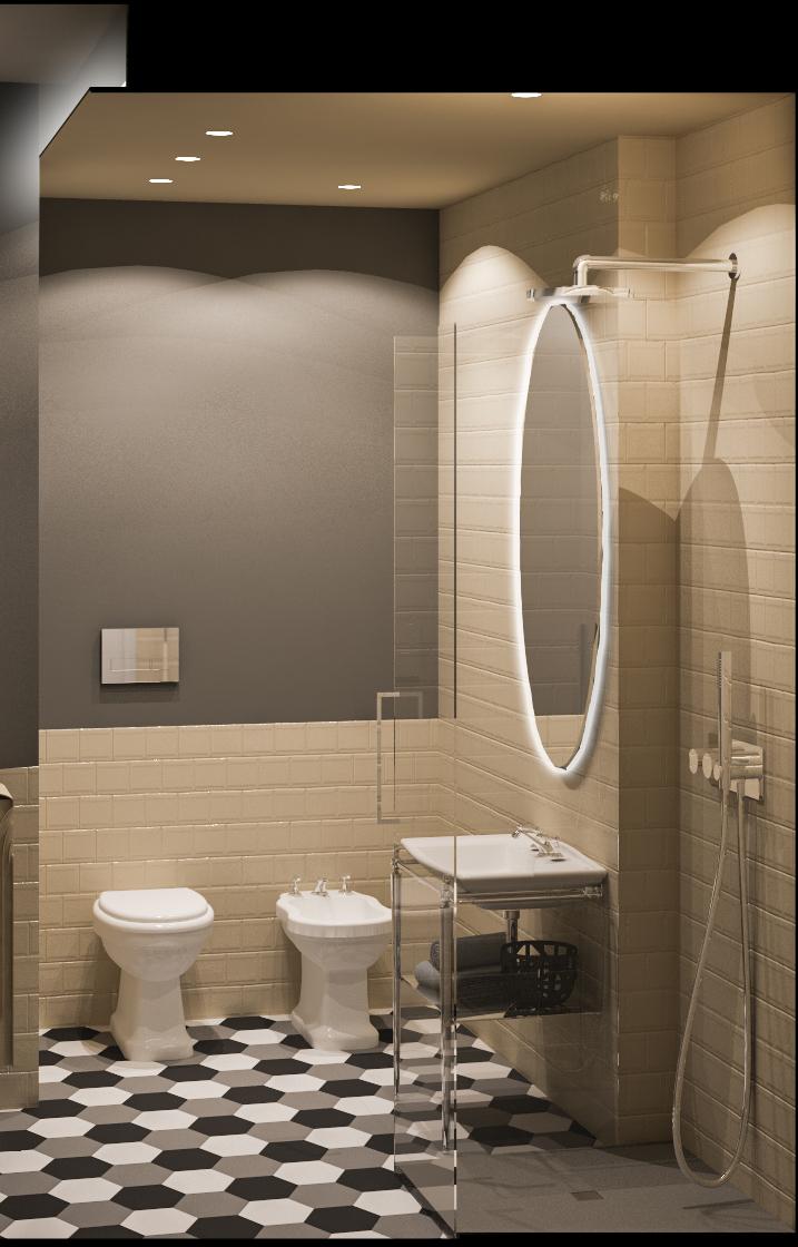 interior design nel bagno