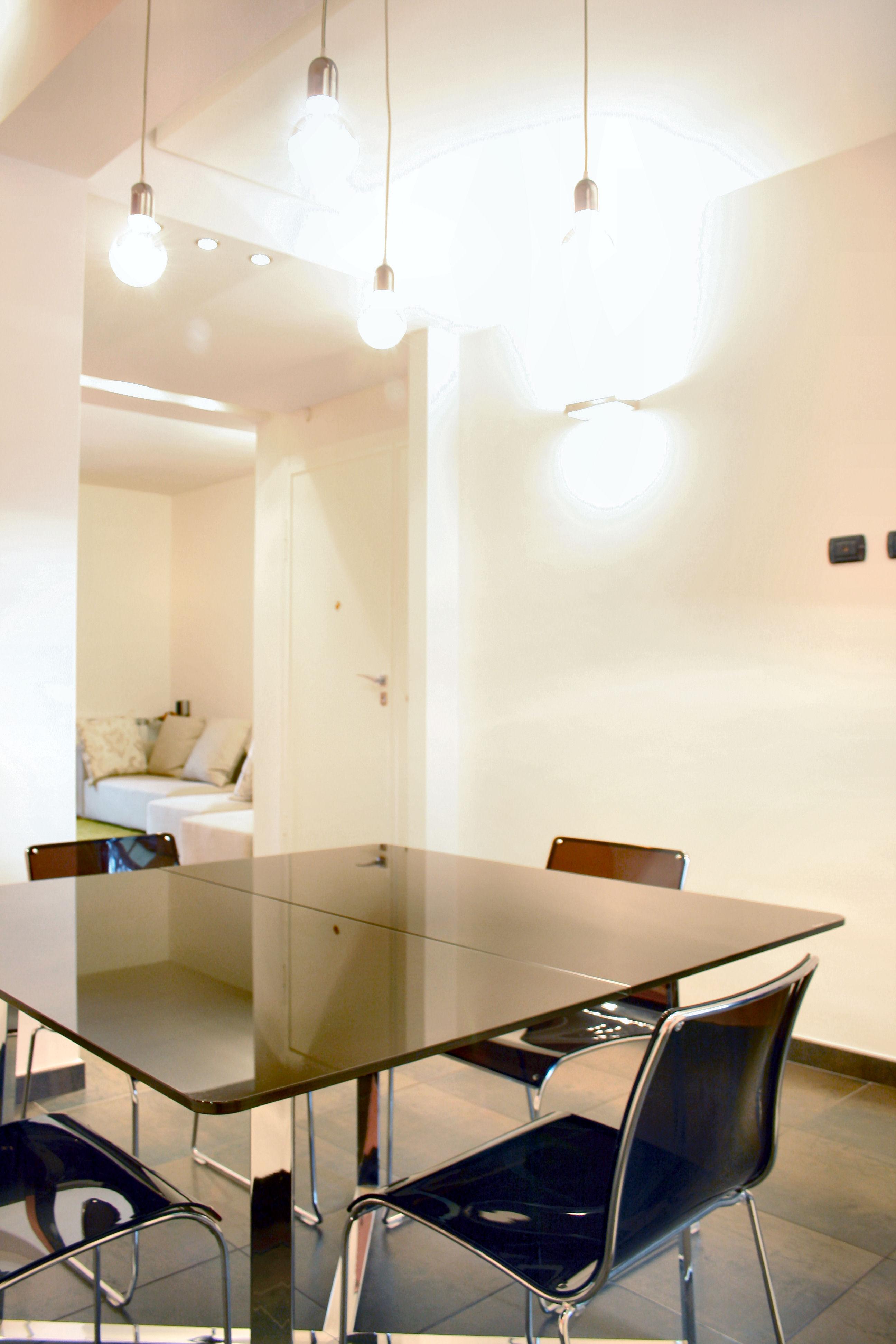 La sala da pranzo minimal