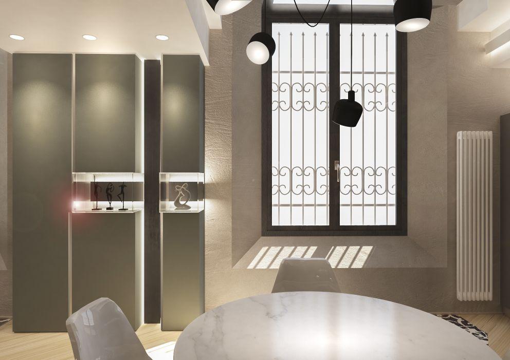 interior design della zona giorno