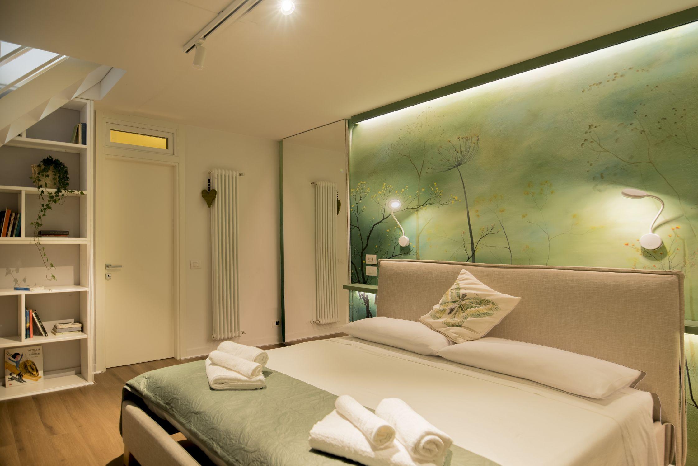 interior design di una camera matrimoniale