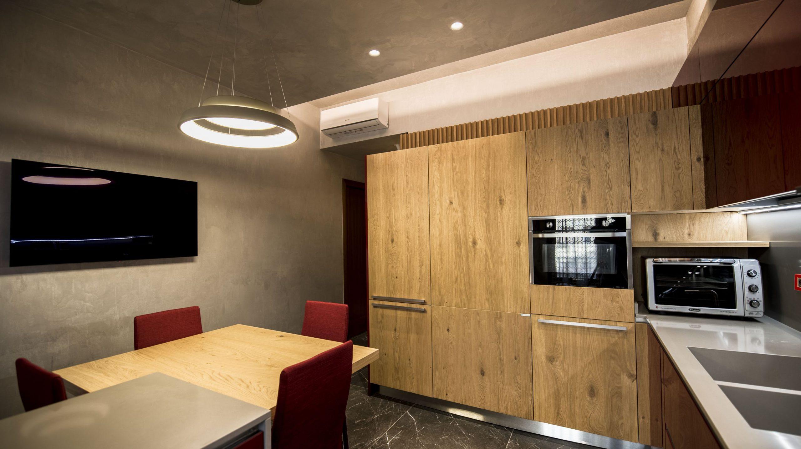 Design cucina rossa