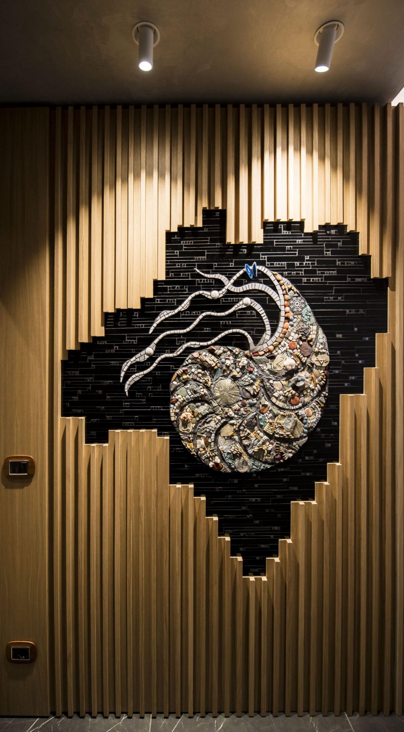 mosaico in un contesto di design di una cucina