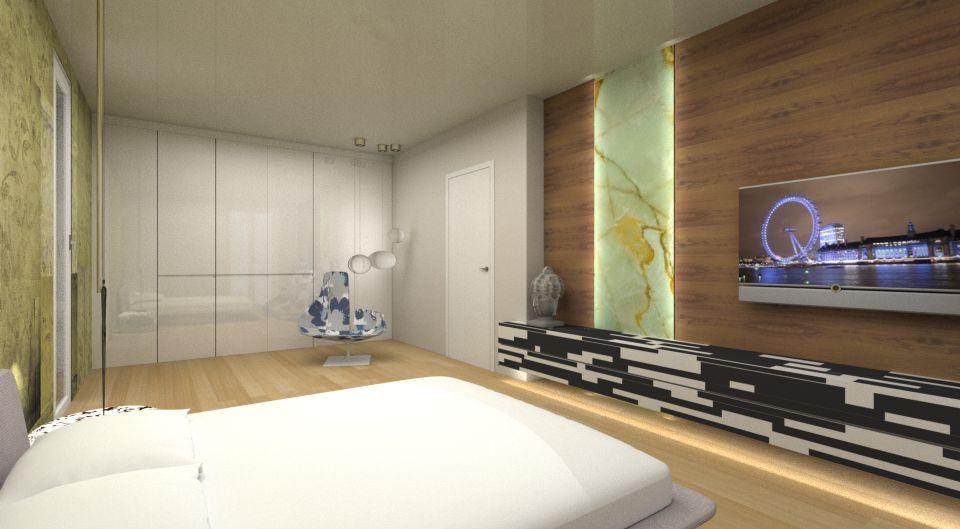 rivestimento in legno per camera