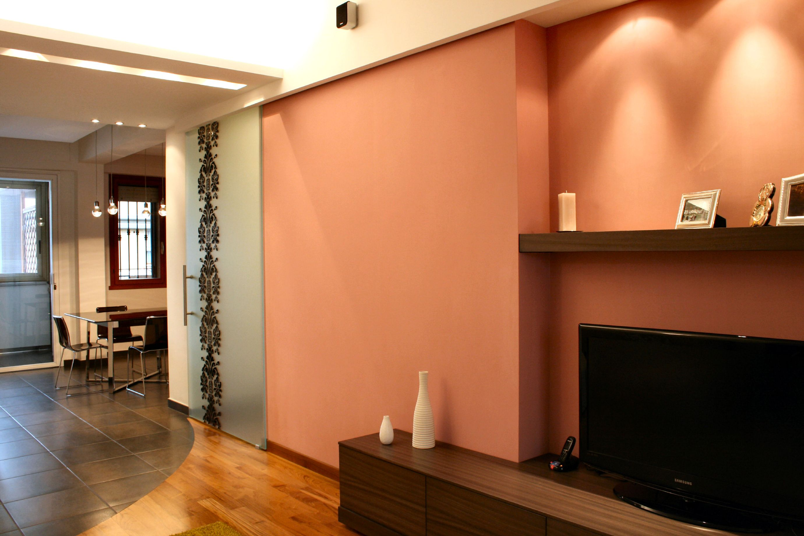 un soggiorno in rosa