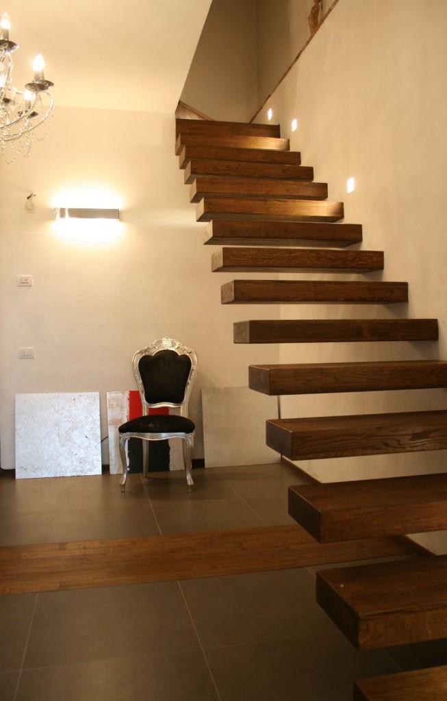 le scale a giorno in rovere